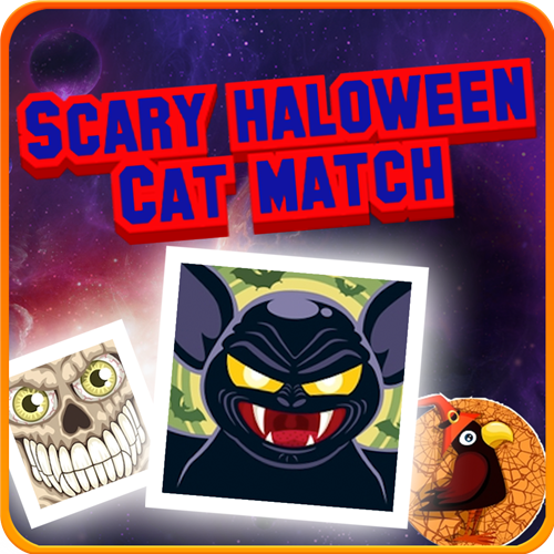 Scary Halloween Cat Match